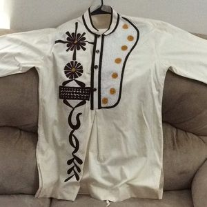 Men Ghana Wear Print embroidered Top + Pants